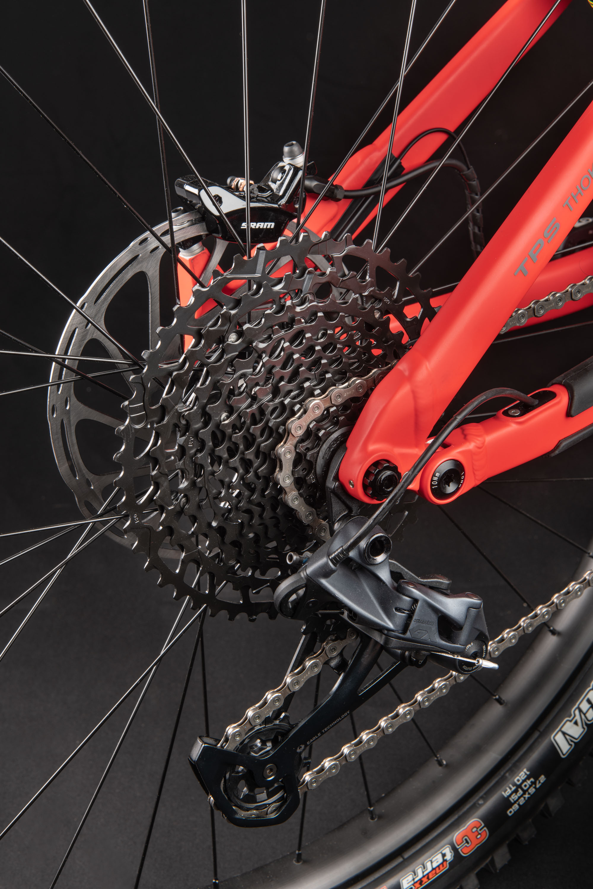 The rear brake and chain. Details make all the difference on Thok Ebikes.